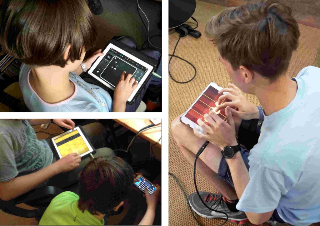 Die Schüler setzen sich mit den einzelnen Apps auseinander