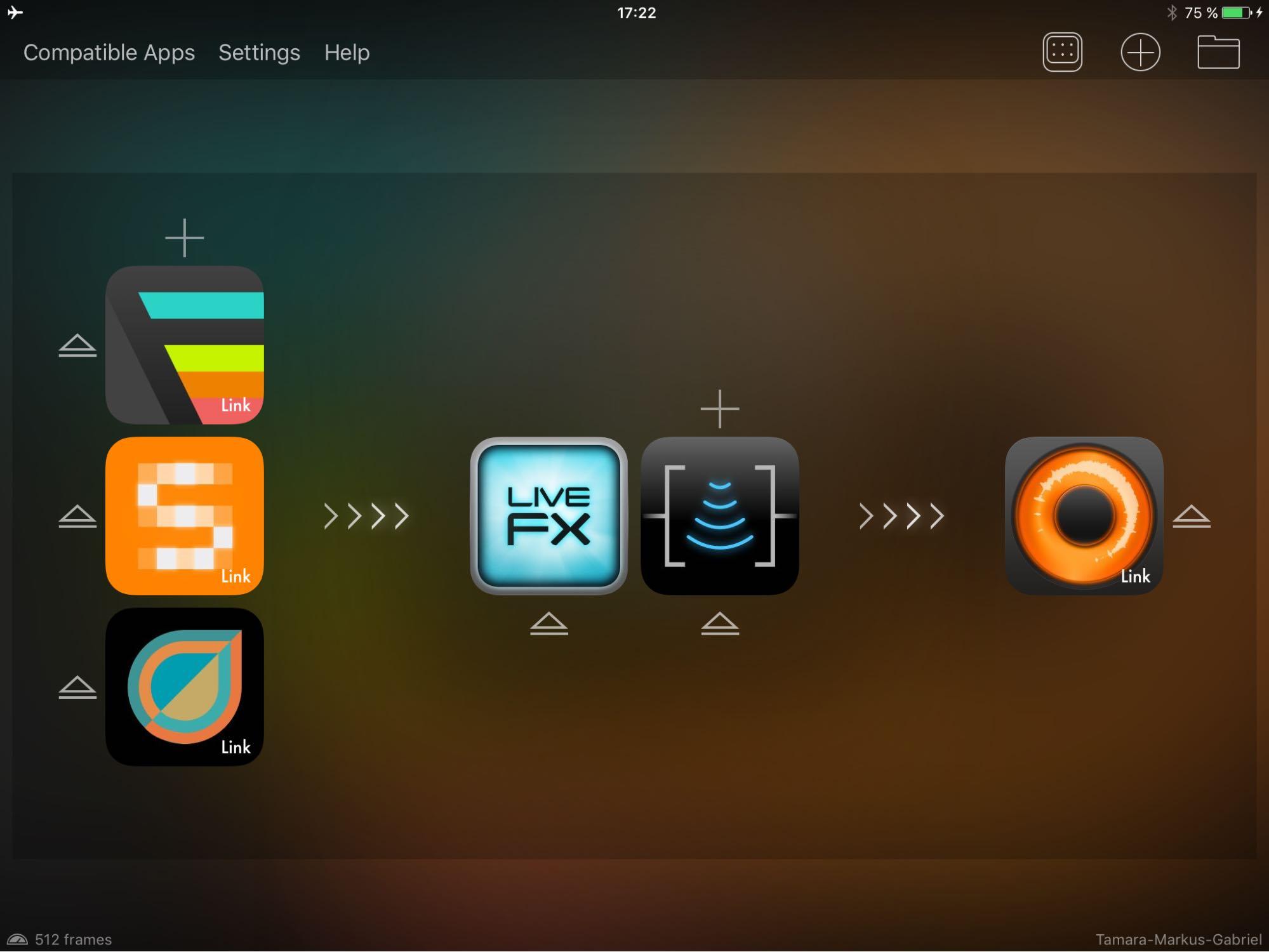 Multi-App-Musikproduktion auf dem iPad - Netzwerk tAPP Netzwerk tAPP
