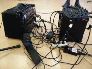 Technik für die Präsentation in Ensembles und als Orchester (Foto: Judith Seipold)